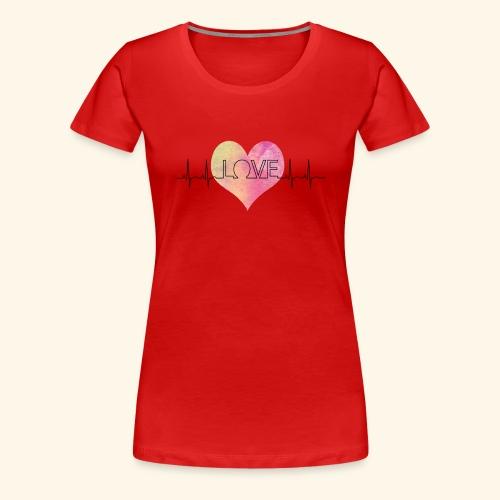 Love Makes My Heart Beat - Women's Premium T-Shirt