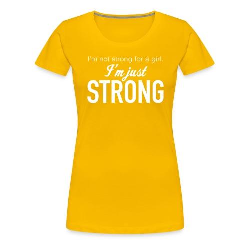 Strong for a Girl - Women's Premium T-Shirt