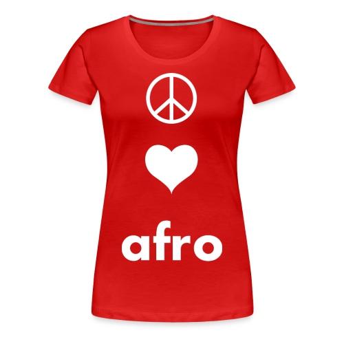 Peace 3Afro png - Women's Premium T-Shirt