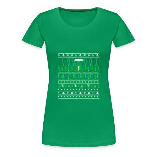 UFO ALIEN UGLY Christmas - Women's Premium T-Shirt