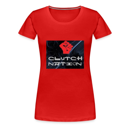 clutchnation logo merch - Women's Premium T-Shirt