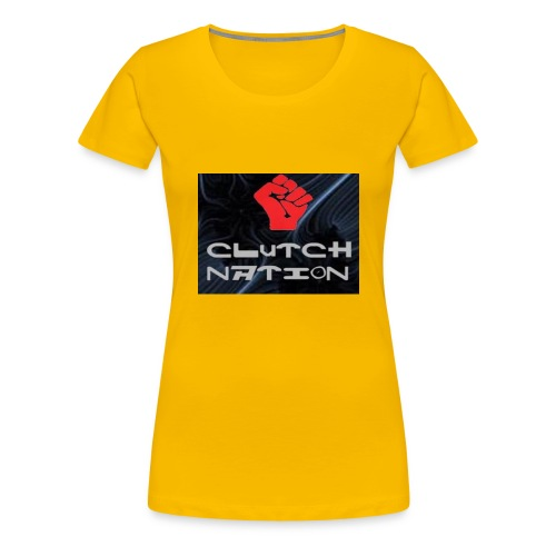 clutchnation logo merch - Women's Premium T-Shirt
