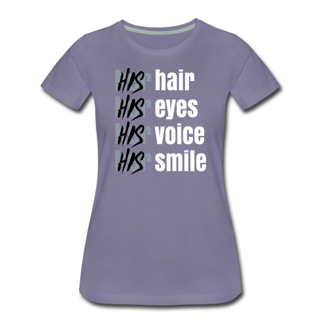 His - Her T-Shirt white