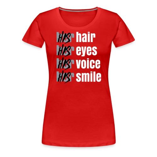 His - Her T-Shirt white - Women's Premium T-Shirt