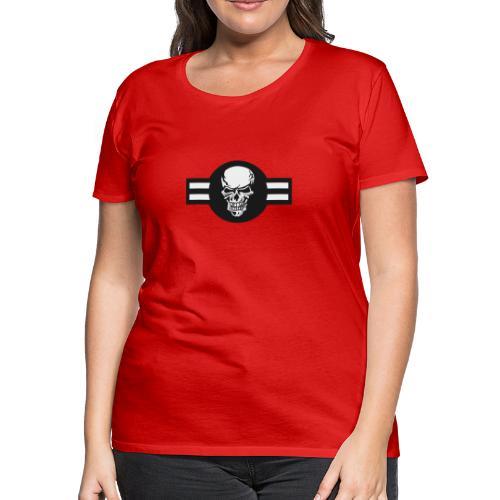 Military aircraft roundel emblem with skull - Women's Premium T-Shirt