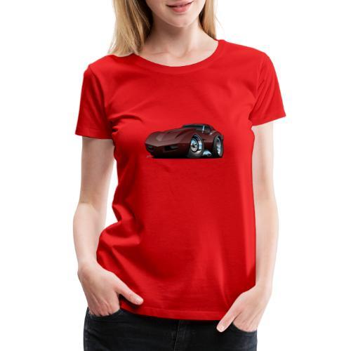 Classic Seventies American Sports Car Cartoon - Women's Premium T-Shirt