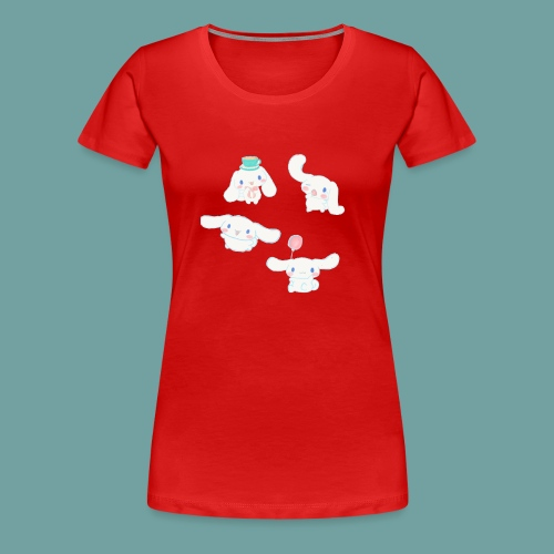 Cinnamon roll sanrio pattern - Women's Premium T-Shirt