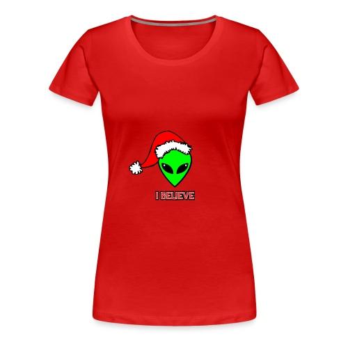 Santa Alien - T-shirt premium pour femmes
