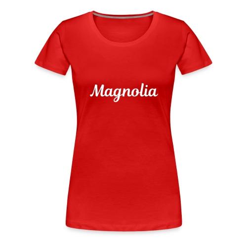 Magnolia Abstract Design. - Women's Premium T-Shirt