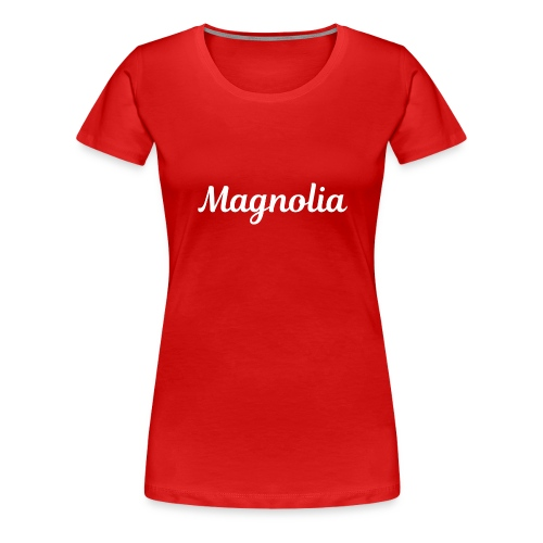 Magnolia Abstract Design. - Women's Premium T-Shirt