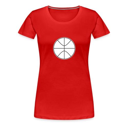 Basketball black and white - Women's Premium T-Shirt