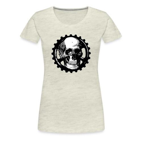 Gear Head Skull - Women's Premium T-Shirt