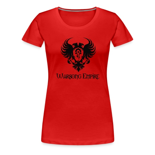 Warsong Empire (Black Logo) - Women's Premium T-Shirt