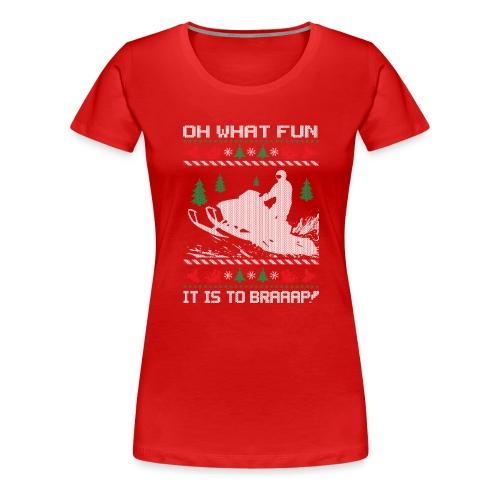Snowmobile Fun Christmas - Women's Premium T-Shirt