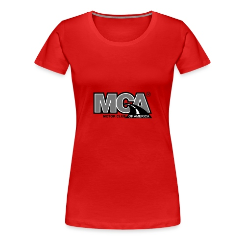 MCA Logo WBG Transparent BLACK WHITE TITLEfw fw pn - Women's Premium T-Shirt