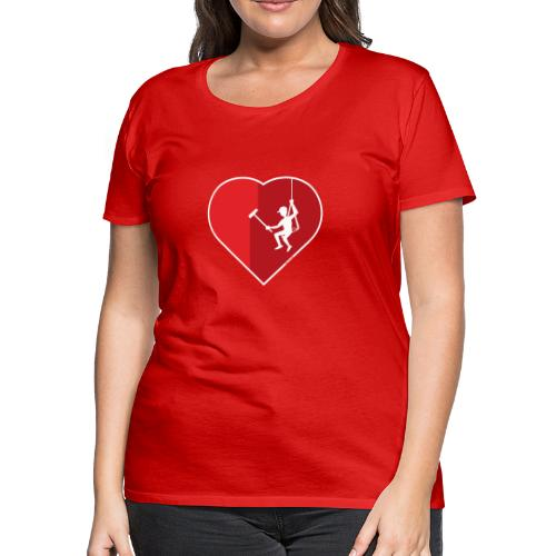 Heart cleaning by a professional window cleaner - Women's Premium T-Shirt