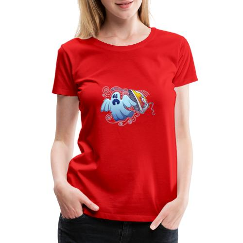 Heated iron, the worst nightmare for an evil ghost - Women's Premium T-Shirt