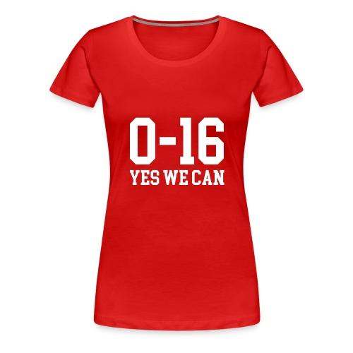 Detroit Lions 0 16 Yes We Can - Women's Premium T-Shirt