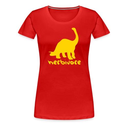 Dinosaur Herbivore - Women's Premium T-Shirt