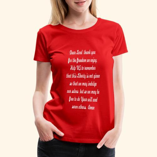 prayer_for_freedom - Women's Premium T-Shirt