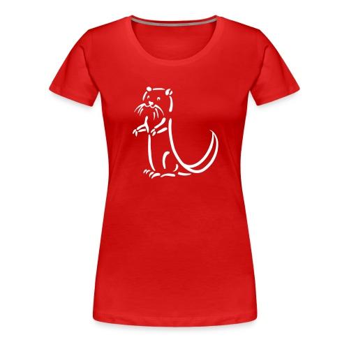 otter beaver sea otter fish lake fishing river - Women's Premium T-Shirt