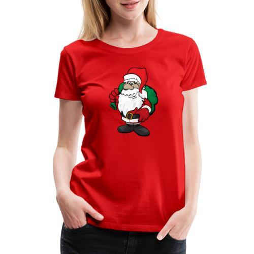 Santa Claus Cartoon Illustration - Women's Premium T-Shirt