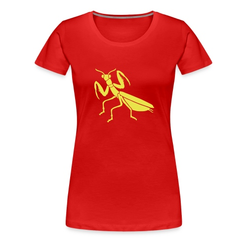 praying mantis bug insect - Women's Premium T-Shirt