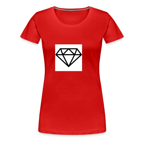 diamond outline 318 36534 - Women's Premium T-Shirt