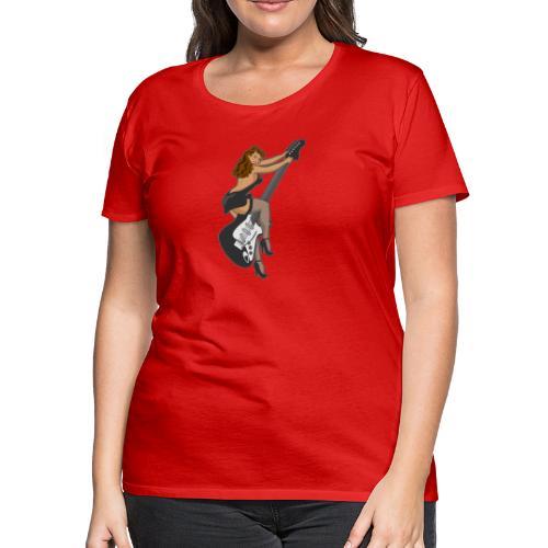 Guitar Pinup Girl - Women's Premium T-Shirt