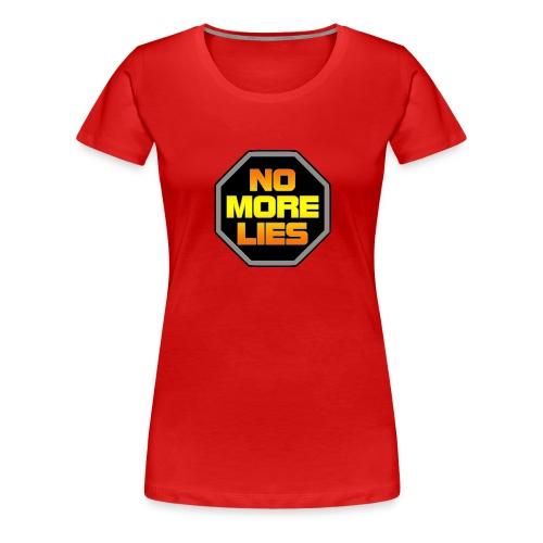 stopp no more lies - Women's Premium T-Shirt