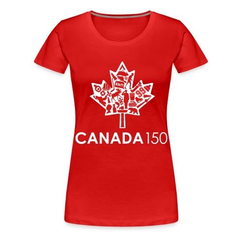 Canada 150 Womens - White - Women's Premium T-Shirt