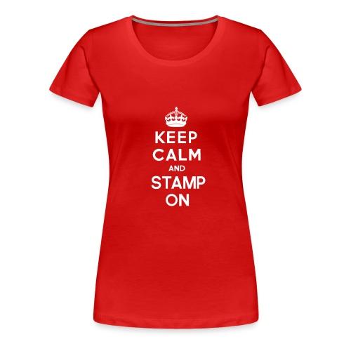 keepcalmandstampon g - Women's Premium T-Shirt