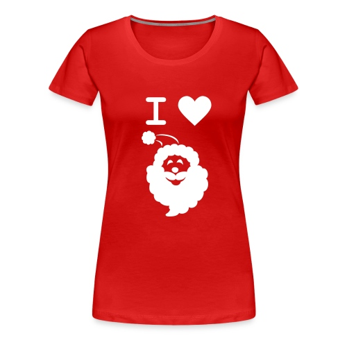 I LOVE SANTA - Women's Premium T-Shirt