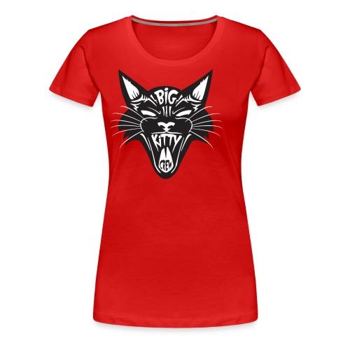 Big Kitty-Screaming Cat - Women's Premium T-Shirt