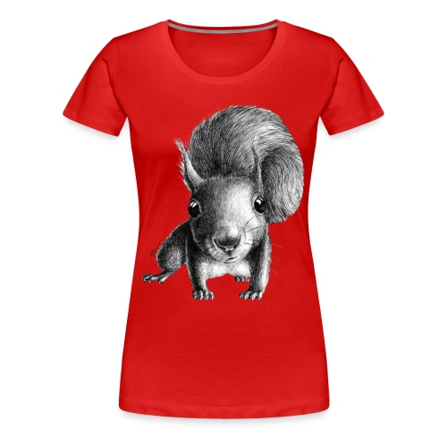 Cute Curious Squirrel - Women's Premium T-Shirt