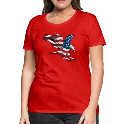 Patriotic American Eagle - Women's Premium T-Shirt
