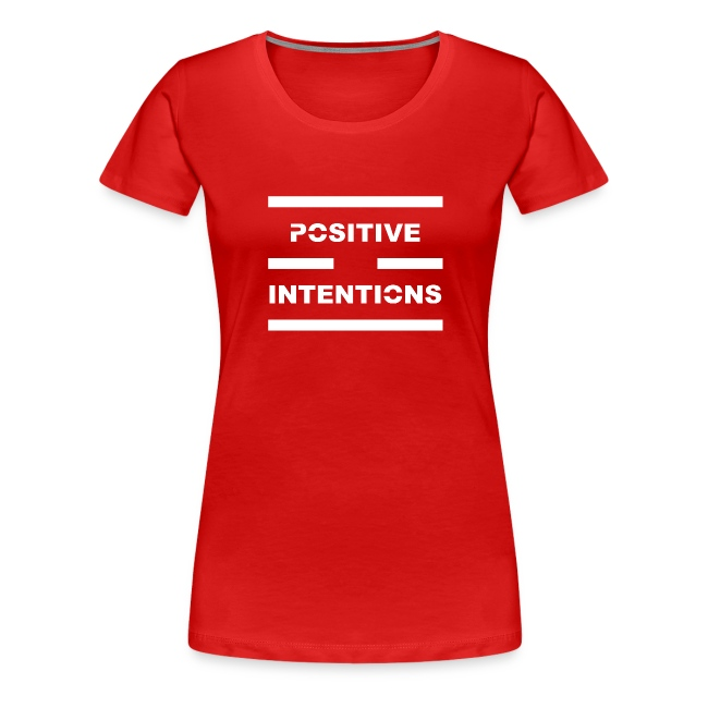Positive Intentions White Lettering