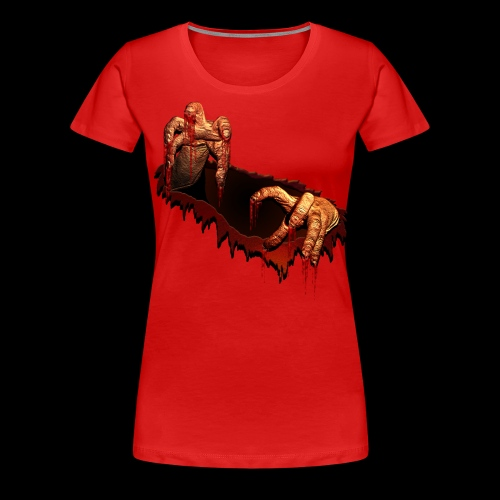 Zombie Shirts Gory Halloween Scary Zombie Gifts - Women's Premium T-Shirt
