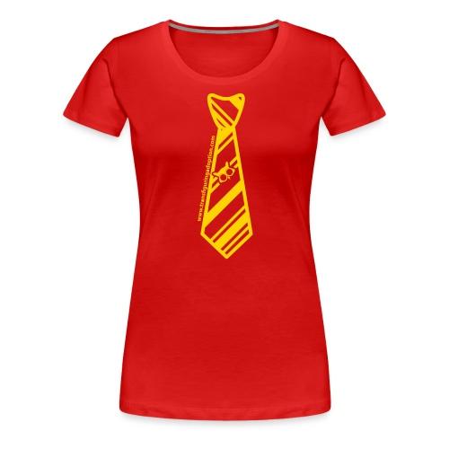 silver-tie-tshirt-01 - Women's Premium T-Shirt