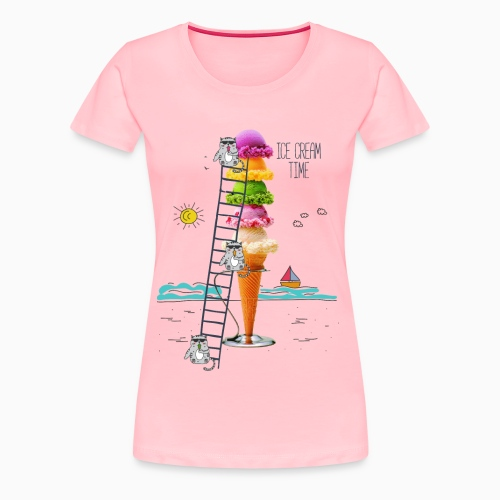 ICE CREAM TIME 01 - Women's Premium T-Shirt