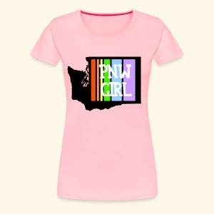 pnw rainbow - Women's Premium T-Shirt