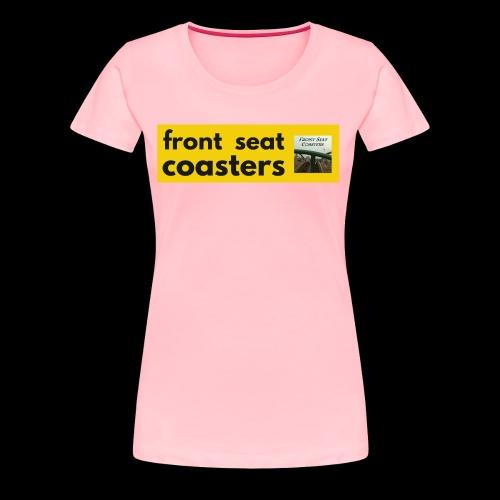 Front Seat Coasters modern classic logo 2017 - Women's Premium T-Shirt