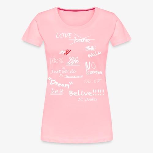 100% mYLife - Women's Premium T-Shirt
