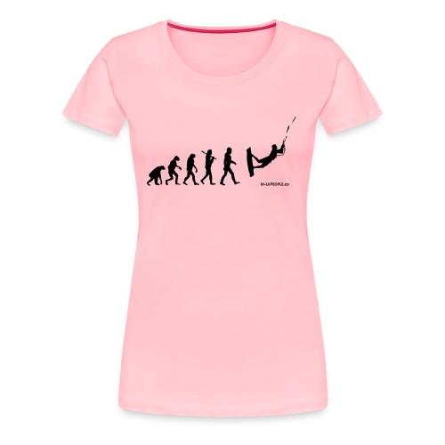 Kite surfing Evolution - Women's Premium T-Shirt
