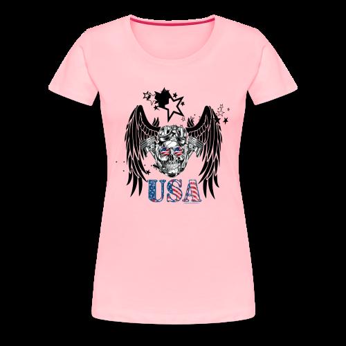 USA Guardian Angel - Women's Premium T-Shirt