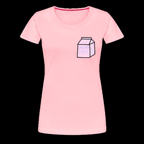 Unicorn Milk Carton - Women's Premium T-Shirt