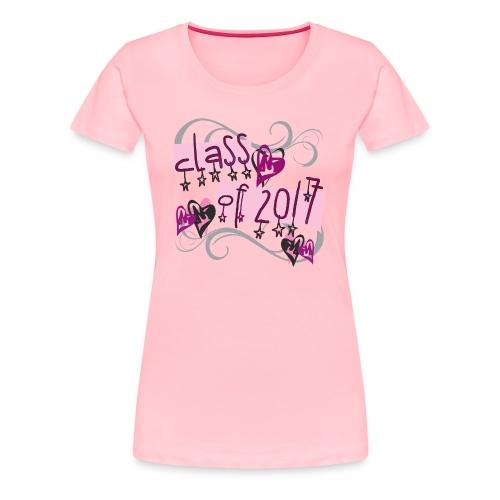 PINK Class of 2017 Stars - Women's Premium T-Shirt
