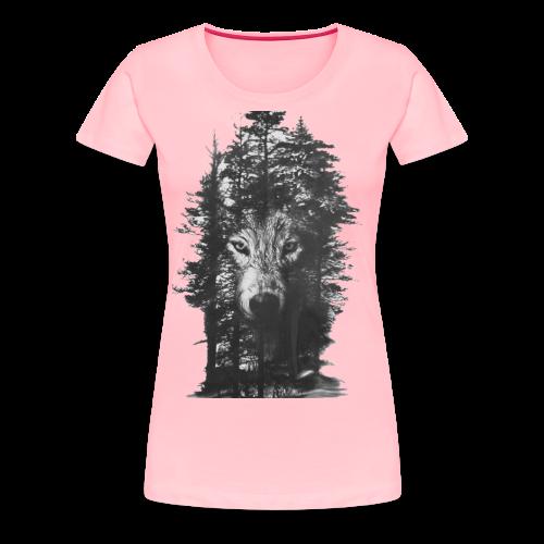 Wolf Forest - Women's Premium T-Shirt