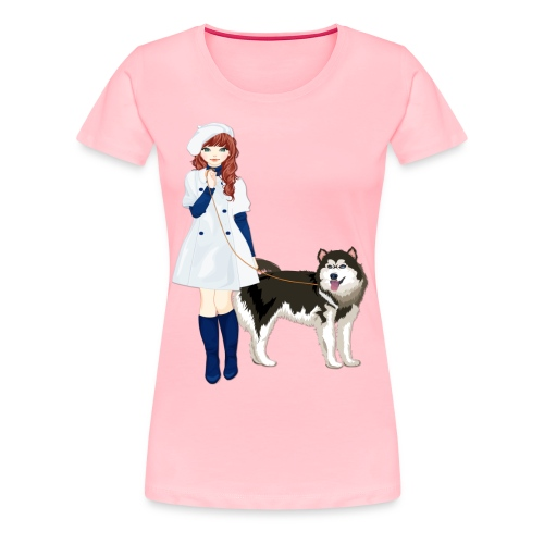 i love my husky - Women's Premium T-Shirt