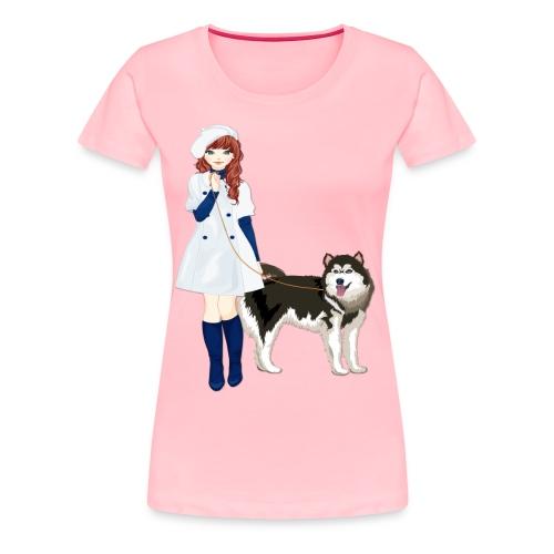 i love my husky - Women's Premium T-Shirt